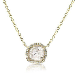 14KT Yellow Gold Diamond Slice Necklace