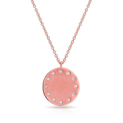 14KT Rose Gold Diamond Stella Necklace