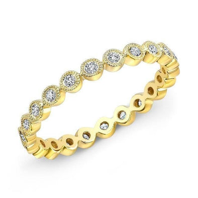 14KT Yellow Gold Bezel Set Diamond Faith Ring
