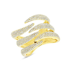 14KT Yellow Gold Diamond Flame Ring