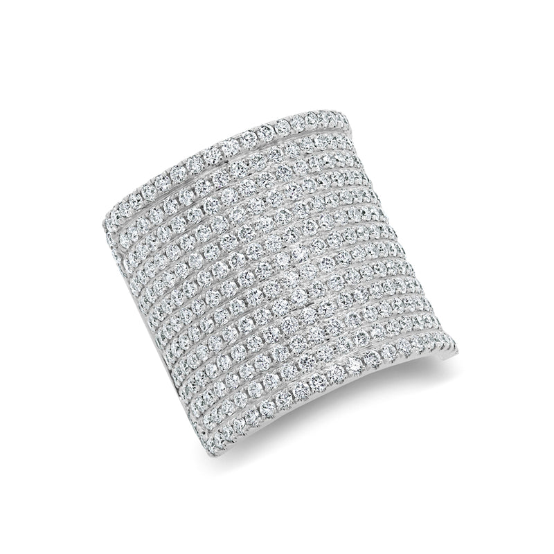 14KT White Gold Diamond Luxe Roma Ring