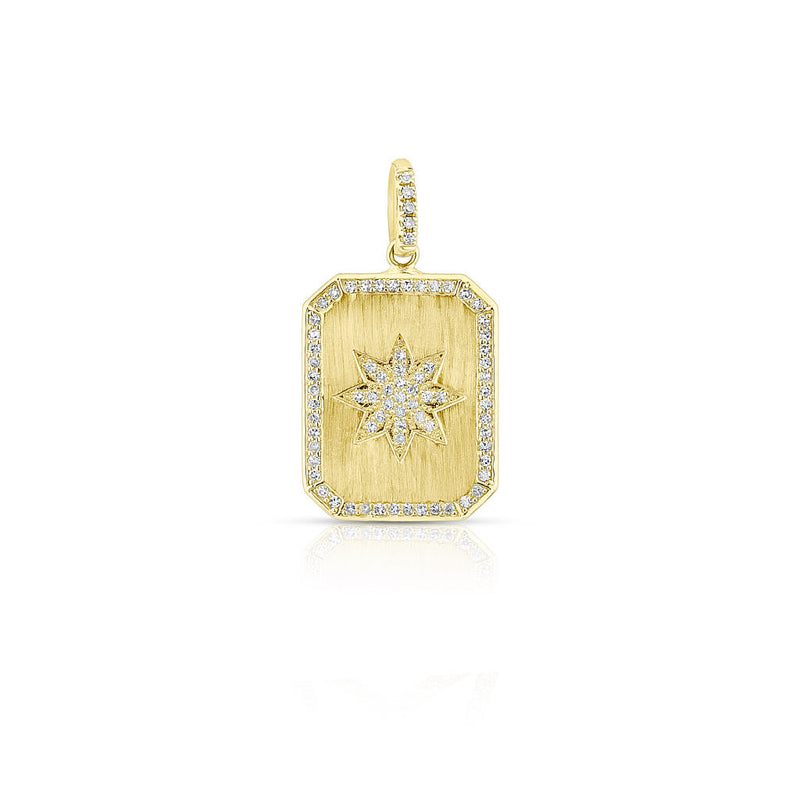 14KT Yellow Gold Diamond Star Charmed Pendant
