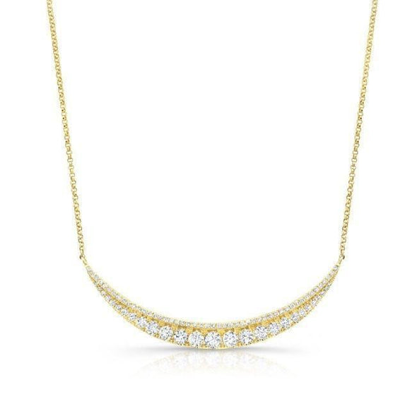 14KT Yellow Gold Diamond Eclipse Necklace