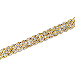 14KT Yellow Gold Diamond Luxe Carter Chain Link Bracelet