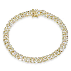 14KT Yellow Gold Diamond Cameron Chain Link Bracelet