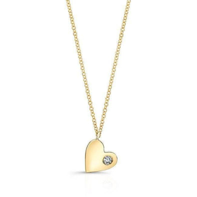 14KT Yellow Gold Diamond In My Heart Necklace