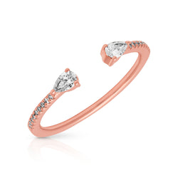 14KT Rose Gold Diamond Monet Stacking Ring