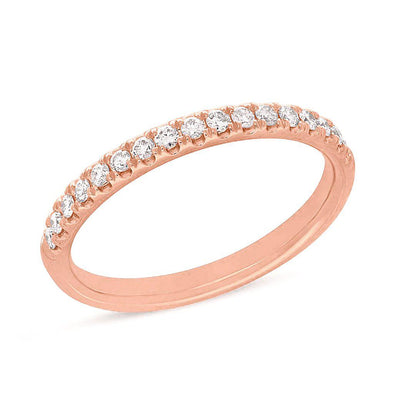 14KT Rose Gold Lauren Half Diamond Ring