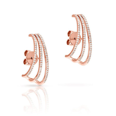14KT Rose Gold Diamond Gwen Suspender Earrings