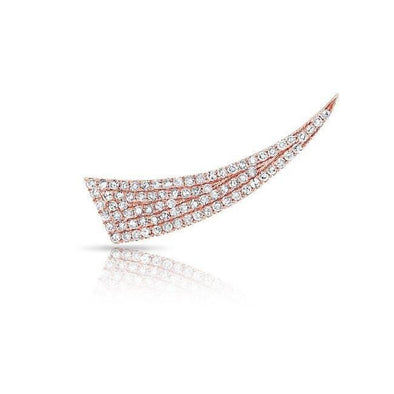 14KT Rose Gold Diamond Horn Ear Climber