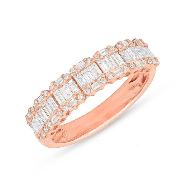14KT Rose Gold Baguette Diamond Ysabel Ring