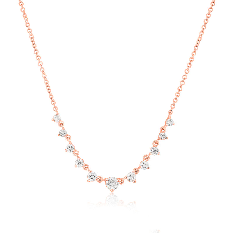 14KT Rose Gold Diamond Francine Necklace