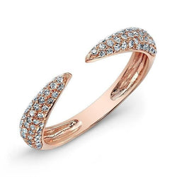 14KT Rose Gold Diamond Horn Ring