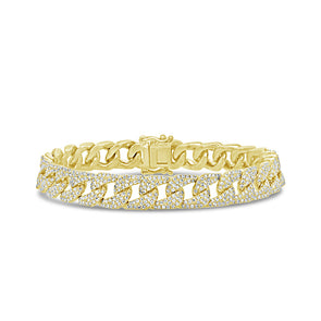 14KT Yellow Gold Diamond Luxe Cameron Chain Link Bracelet