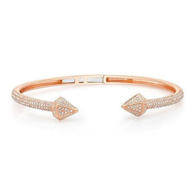 14KT Rose Gold Diamond Olympia Cuff