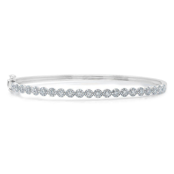 14KT White Gold Diamond Small Kira Bangle