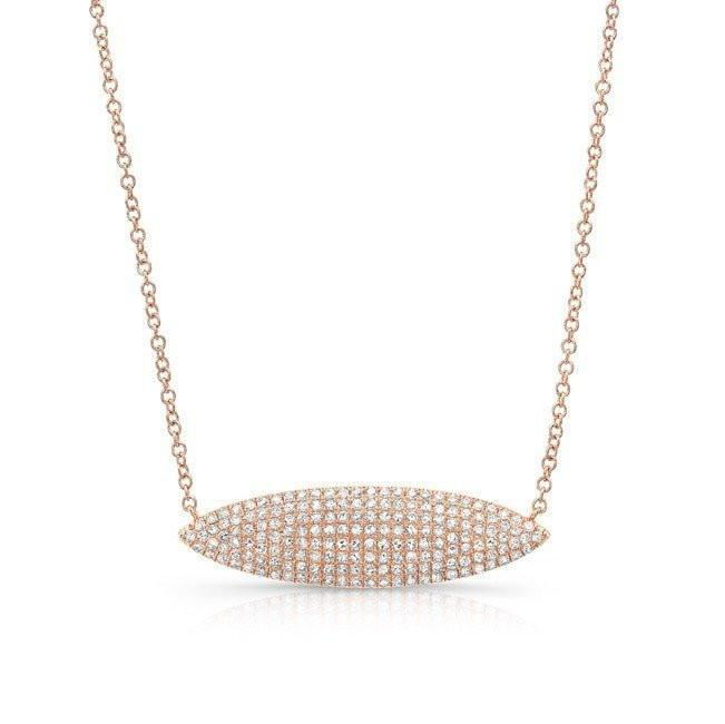 14KT Rose Gold Diamond Irina Necklace