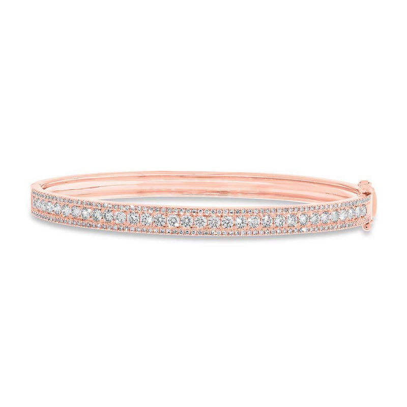 14KT Rose Gold Diamond Lea Bangle