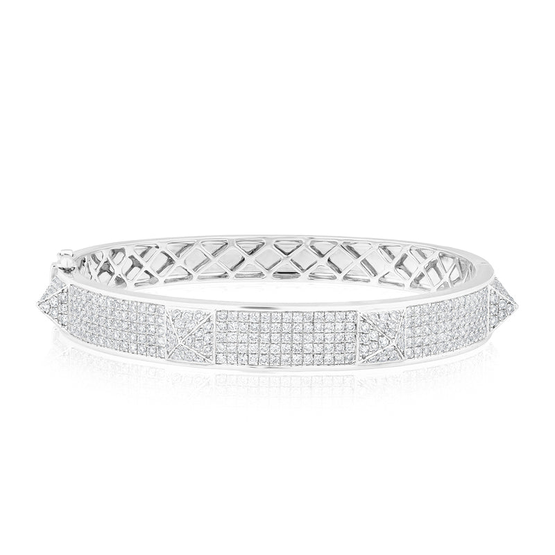 14KT White Gold Diamond Reverie Bangle Bracelet