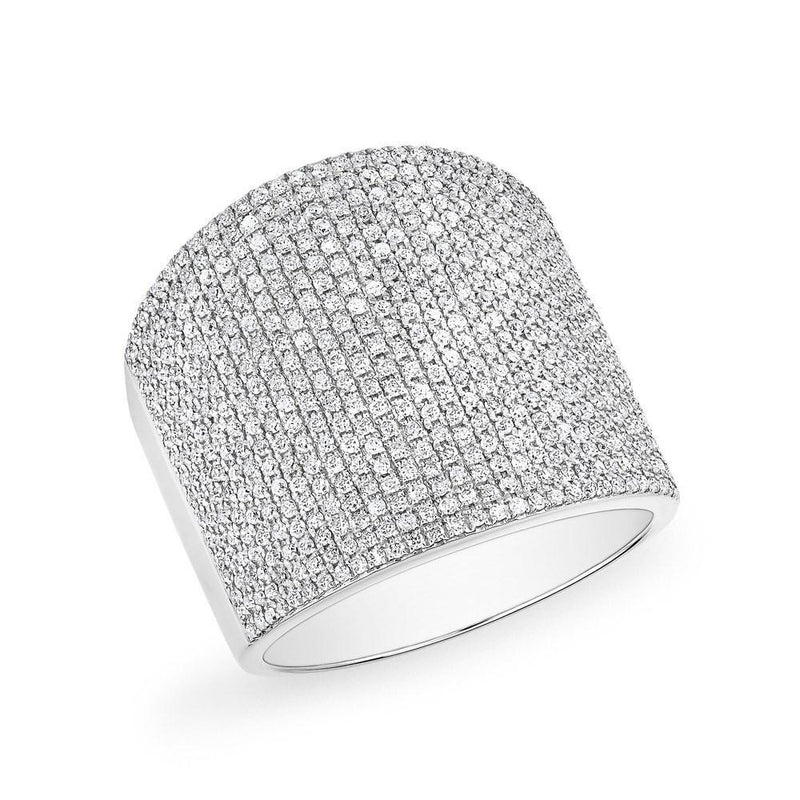 14KT White Gold Diamond Aegis Ring