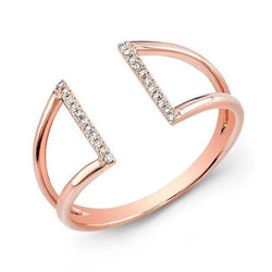 14KT Rose Gold Diamond Space Ring