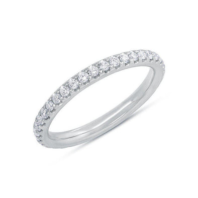 14KT White Gold Diamond Luxe Eternity Stacking Ring