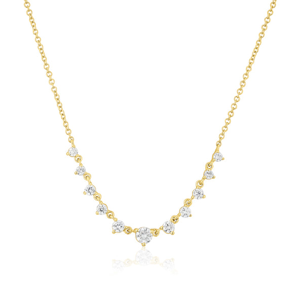 14KT Yellow Gold Diamond Francine Necklace