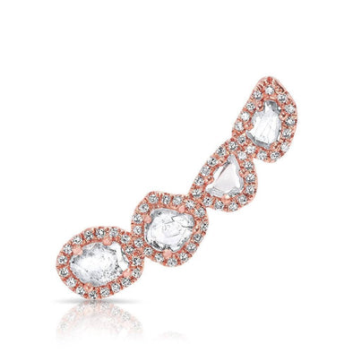 14KT Rose Gold Diamond Slice Ear Climber