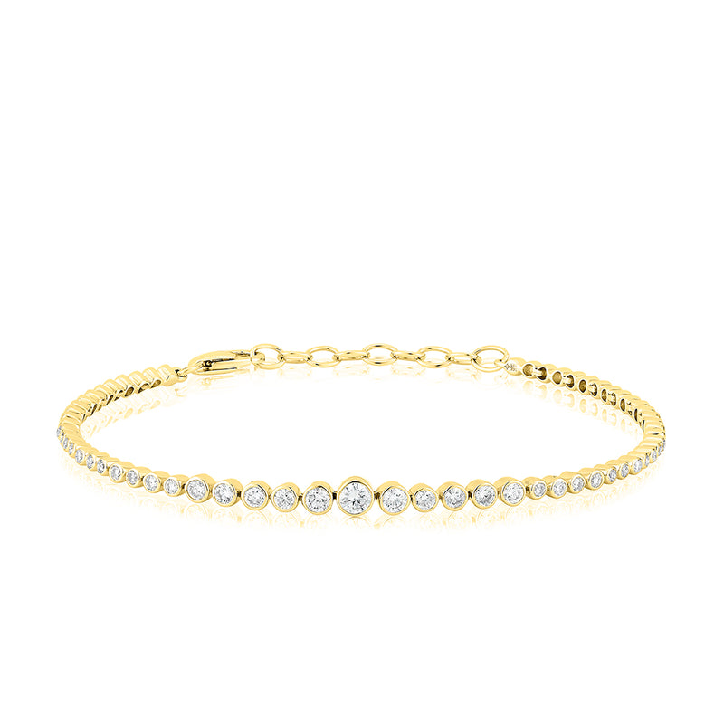 14KT Yellow Gold Diamond Carly Bracelet