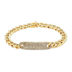 yellow gold diamond luxe id bracelet