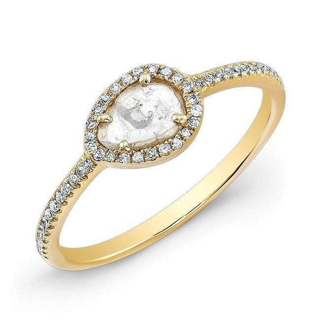 yellow gold sasha diamond slice ring