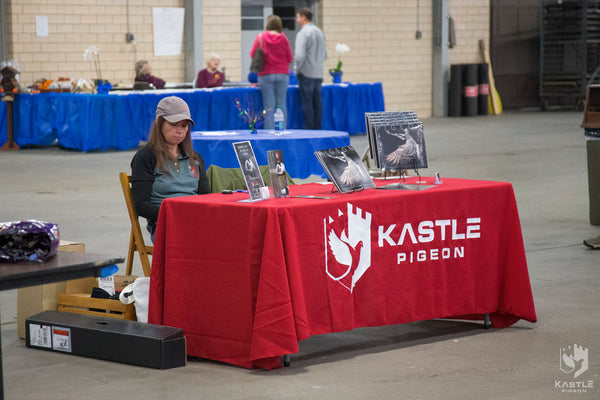 kastle pigeon show table