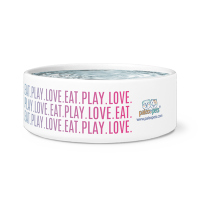 "Cat Bowl ""Eat Play Love"""
