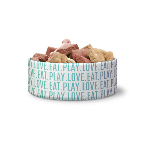 "Dog Bowl - ""Eat Play Love"""