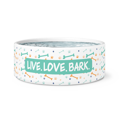 "Dog Bowl ""Live Love Bark"""