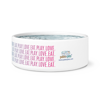 "Dog Bowl ""Eat Play Love"""