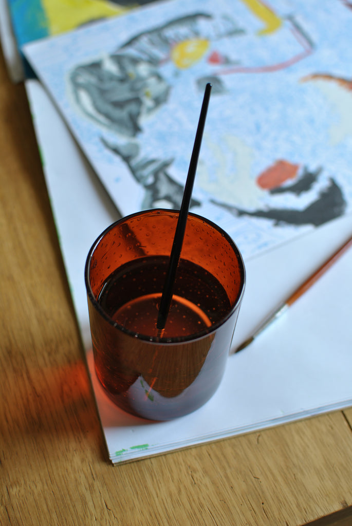 Use your Bastide candle pot as a paintbrush holder
