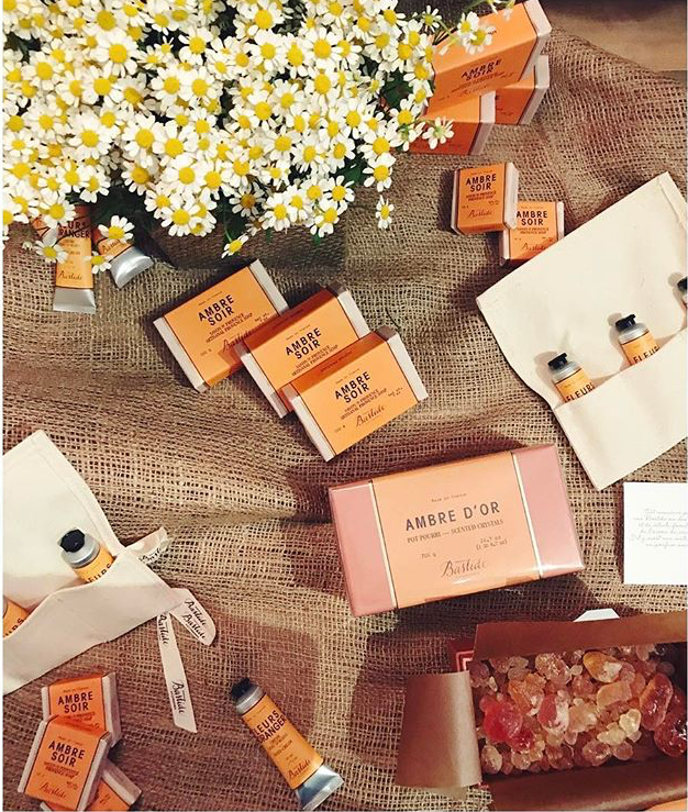 Products Ambre Soir from Bastide Collection, hand creams, potpourri and soap