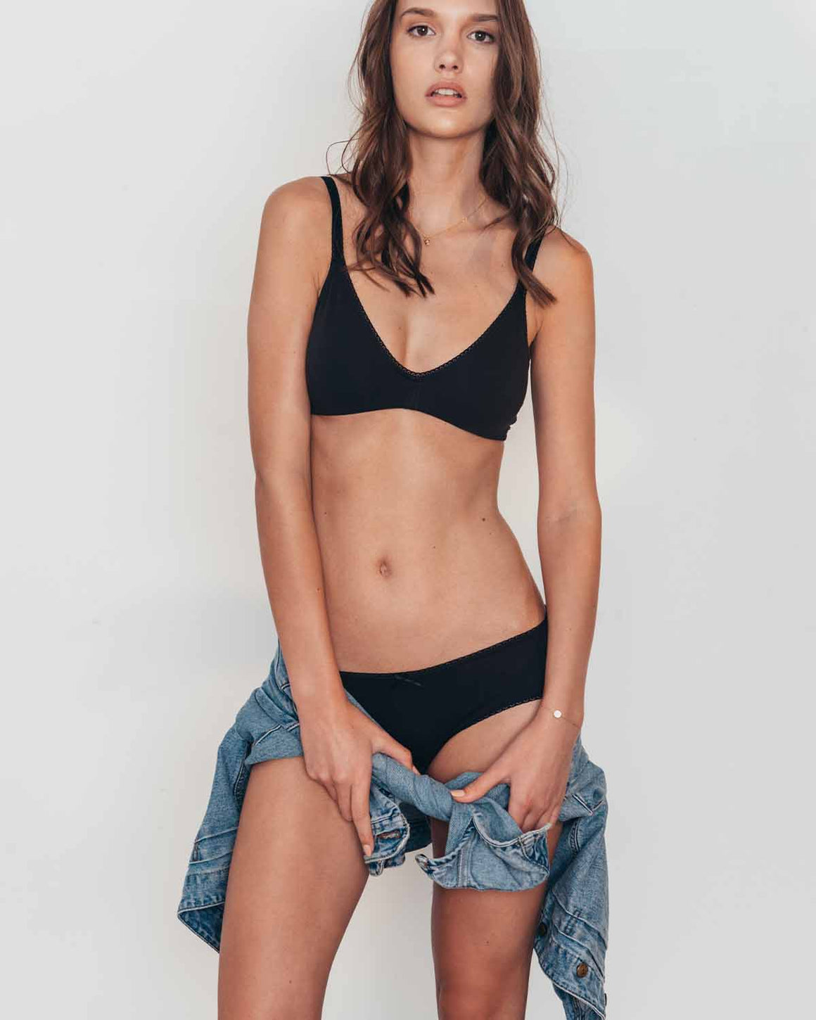 Pima Goddess Everyday Plunge Bralette