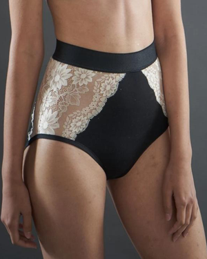 Cream High Waisted Brief