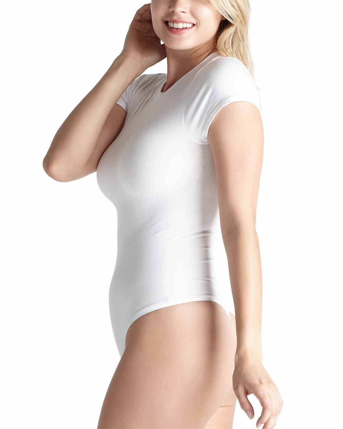 Short Sleeve Shaping Thong Bodysuit