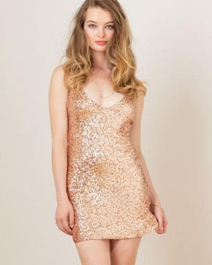 Shine On Mini Slip Dress