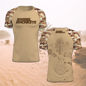 "Rebel Monkeys ""DESERT"" -  Adult Rashguard  PRE-ORDER - REBEL MONKEYS"