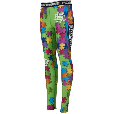 "Extreme Hobby TM ""Puzzle Green"" Spats / Leggings"