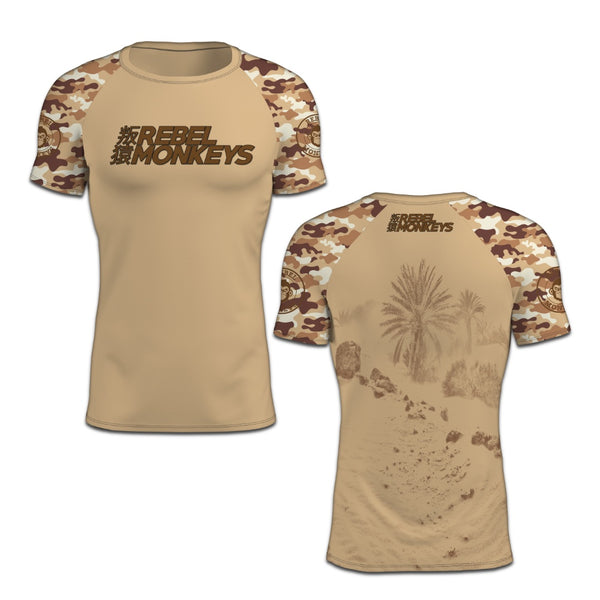 """Rebel"" Short Sleeve Rash Guard - Extreme Hobby TM - Rebel Monkeys"