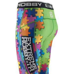 "Extreme Hobby TM ""Puzzle Green"" Spats / Leggings - Rebel Monkeys"