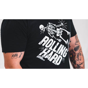 "Rebel Monkeys ""ROLLING HARD"" T-Shirt Black - Rebel Monkeys"