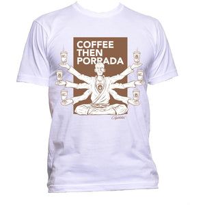 "Rebel Monkeys ""COFFEE GURU"" by Gartista - T-Shirt White - Rebel Monkeys"