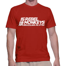"Rebel Monkeys ""BJJ"" T-Shirt Red - Rebel Monkeys"