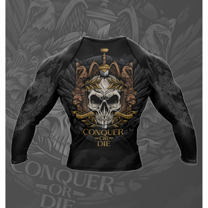 "Rebel Monkeys ""INVICTUS"" -  Adult Long Sleeve Rashguard - Rebel Monkeys"